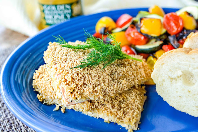 Honey Mustard Crusted Salmon