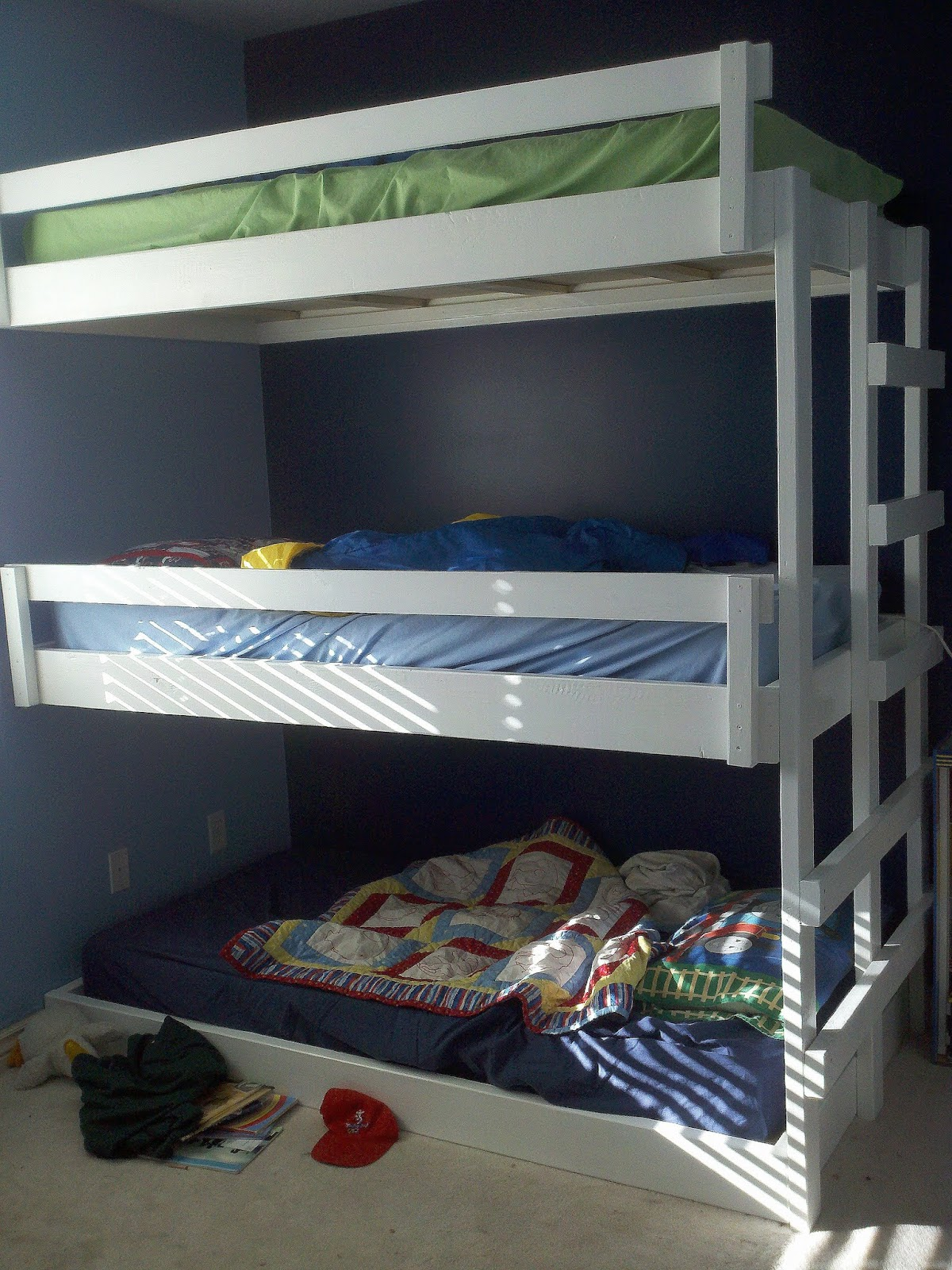 My Home Done My Way Triple Bunk Bed Finished