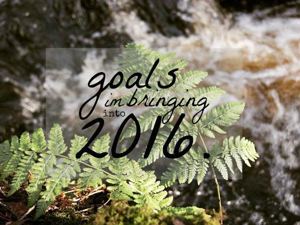 Goals I'm Bringing Into 2016.