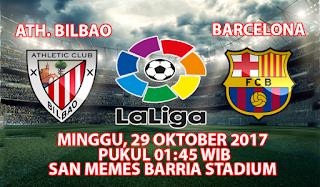 Prediksi Athletic Bilbao vs Barcelona 29 Oktober 2017