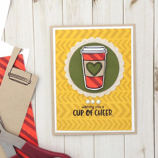 Sunny Studio Stamps: Mug Hugs Customer Card Share by Creations Galore