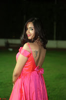 Actress Pujita Ponnada in beautiful red dress at Darshakudu music launch ~ Celebrities Galleries 088.JPG