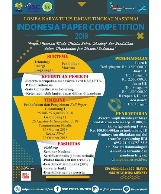 Indonesia Paper Competition (IPC) 2018