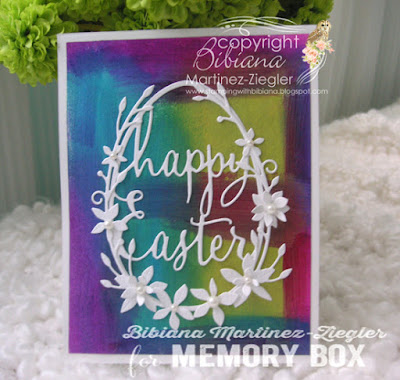 easter card with painted background front
