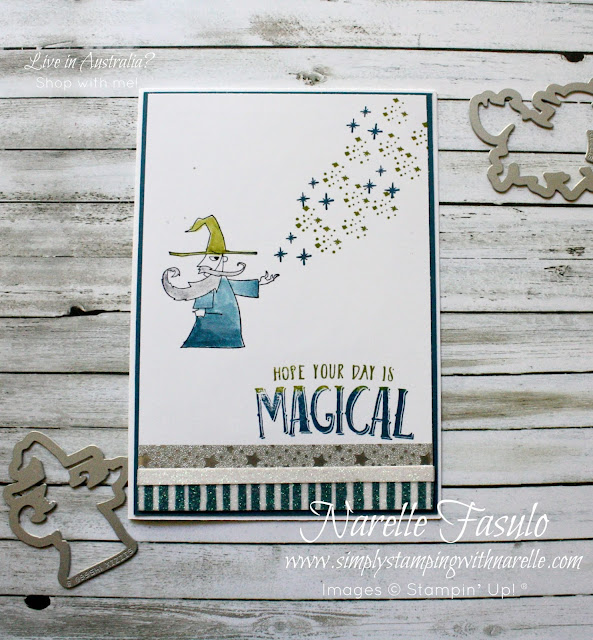 Make your little Harry Potter fans day with a wizard card for their next birthday. Get this great stamp set and framelits bundle here - http://bit.ly/2ru8qnQ