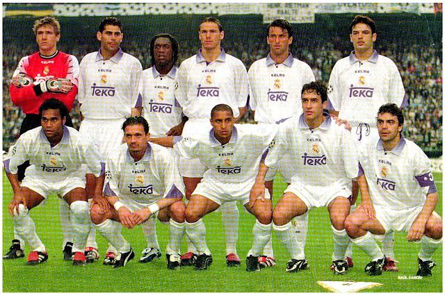 REAL MADRID C. F. Temporada 1997-98. Illgner, Fernando Hierro, Seedorf, Redondo, Panucci y Morientes; Karembeu, Mijatovic, Roberto Carlos, Raúl y Sanchís. REAL MADRID C. F. 1 JUVENTUS F. C. 0. 20/05/1998. 43ª edición de la Liga de Campeones de la UEFA, Final. Ámsterdam, Países Bajos, Amsterdam Arena (48.500 espectadores). GOLES: 1-0: 66', Mijatovic. EL REAL MADRID se proclama Campeón de Europa, ganando su 7º título,  32 años después de haber conseguido el 6º.