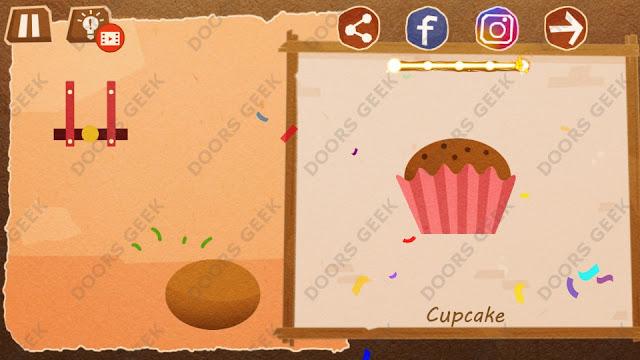 Chigiri: Paper Puzzle Novice Level 17 (Cupcake) Solution, Walkthrough, Cheats