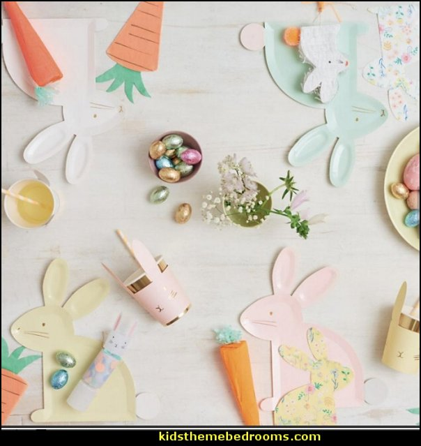 Easter Party bunny rabbit easter party decorations bunny rabbit plates carrot plates