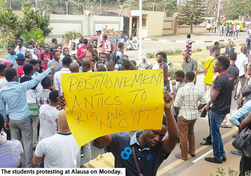 Lagos students protest election shift