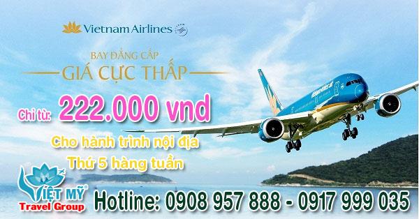 Vietnam airlines khuyến mãi hành trình nội địa hàng tuần