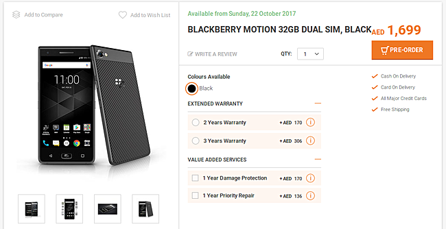 Blackberry Motion Smartphone Are Now Available And Live For Pre-Order
