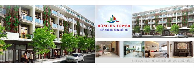 Phối cảnh khu liền kề tại dự án Hồng Hà