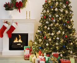 Christmas tree fireplace decorations