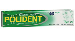 احصل على لاصق طقم الاسنان من شركة Polident مجانا الى باب بيتك