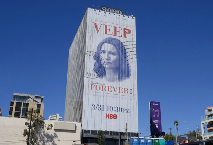 Giant Veep final season billboard