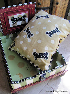 hand painted pet bed