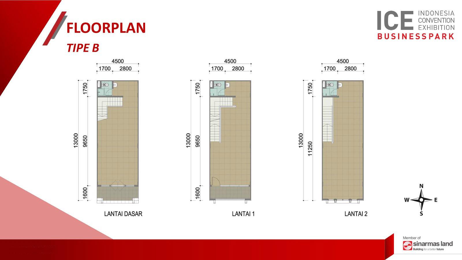 Blokplan Ruko ICE Business Park BSD - Tipe B