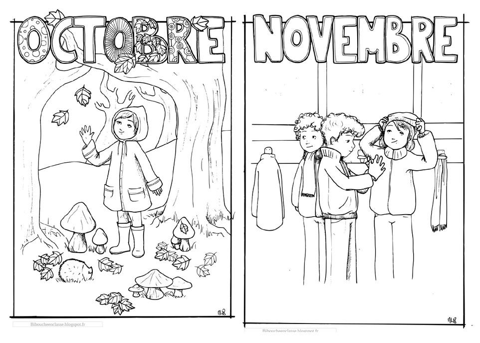 Bibouche En Classe Coloriages D Octobre Et De Novembre Version 2018