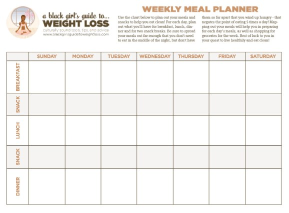 Printable Weight Loss Chart With Goal