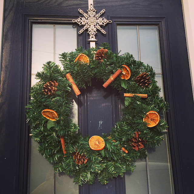 homemade door wreath