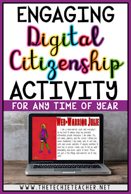 Are you looking for a fun way to review the core values of digital citizenship? Check out this FREE technology themed activity that will turn your students into web-warriors.