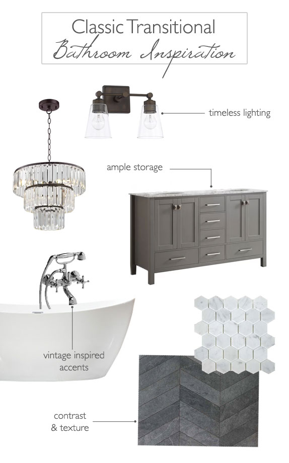 Classic Transitional Bathroom Inspiration