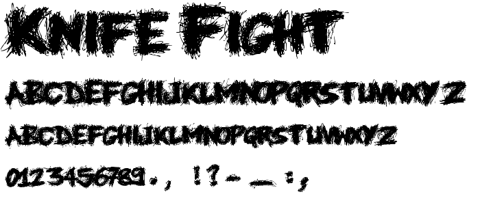 Knife Fight font