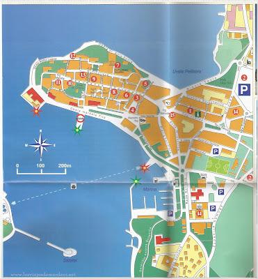 Mapa turistico de Porec
