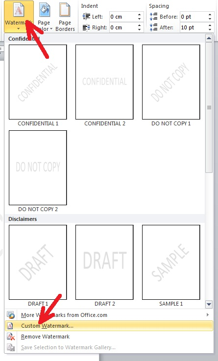 Cara Membuat Watermark Di Word 2007 : membuat, watermark, Membuat, Watermark, Microsoft, Dengan, Mudah, Komputer