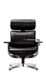 Nuvem Recliner In Black Leather