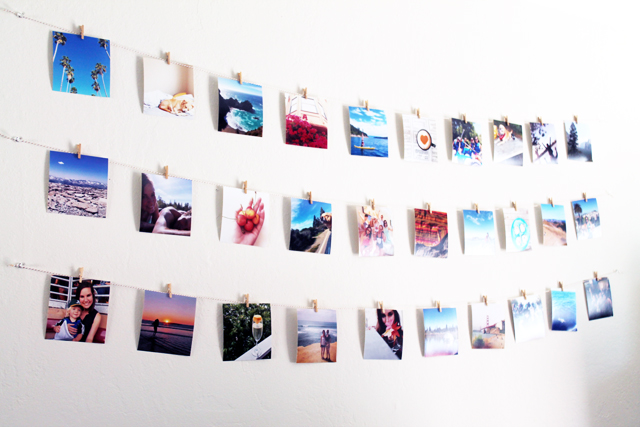 Diy Instagram Photo Wall Hanging One To Nothin