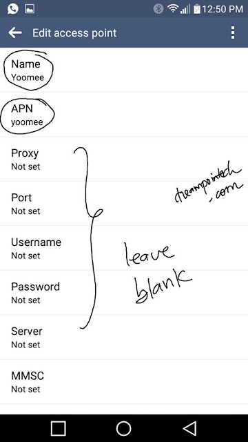Configure Yoomee 4G APN on Smartphones, Modems or Routers