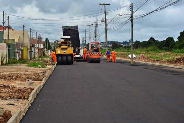 Roça Grande e Osasco recebem asfalto novo