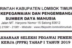 DAFTAR NAMA , LOKASI DAN JADWAL TES P3K KABUPATEN LOMBOK TIMUR TAHAP 1 TAHUN 2019