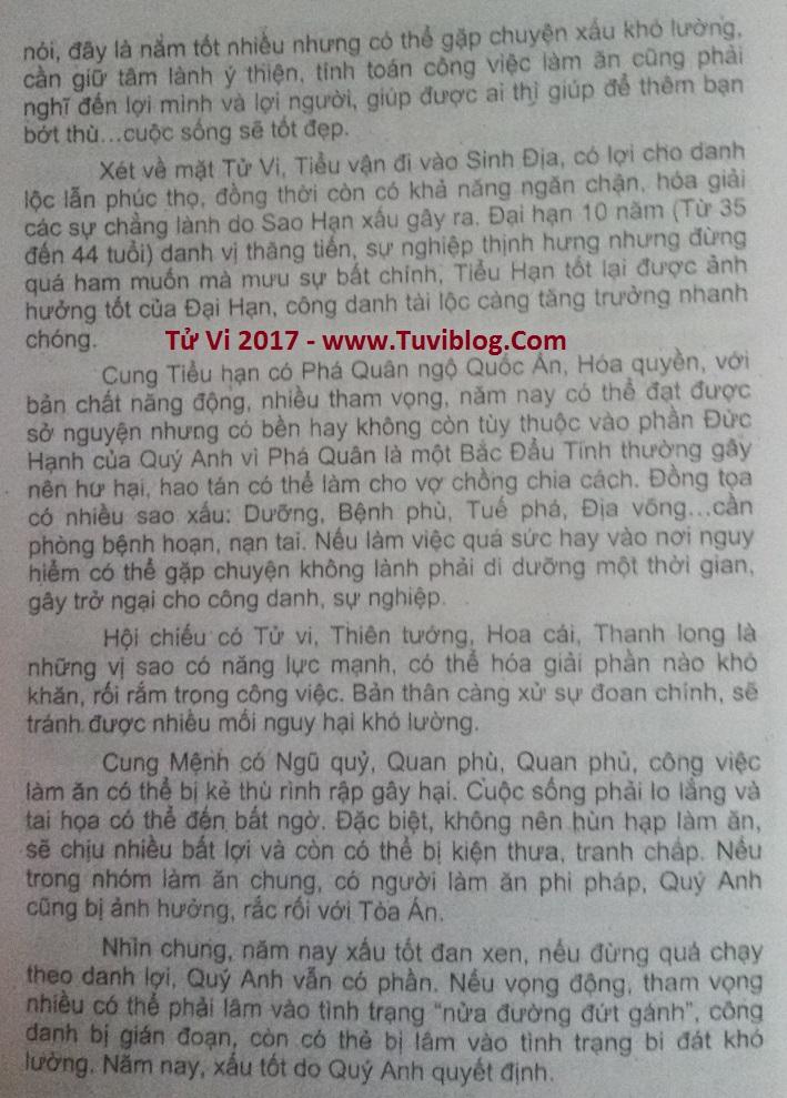 Xem tuoi Dinh Ty 1977 nam 2017