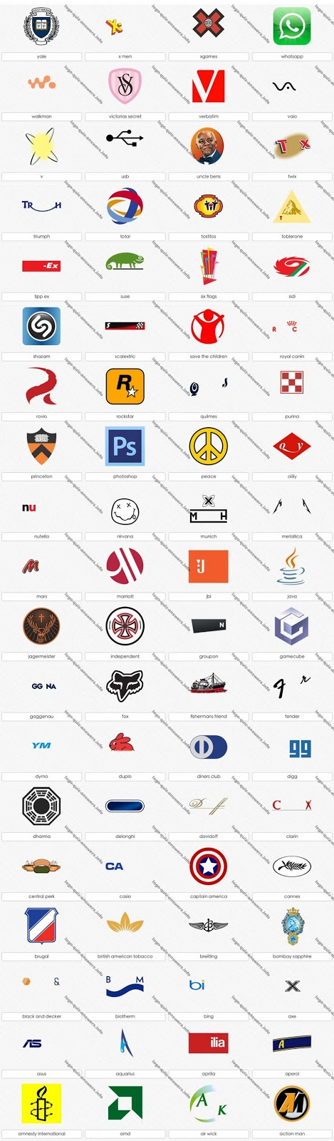 TEK: logo quiz answers levels