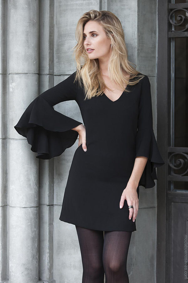 Moda vestidos otoño invierno 2018 ropa de mujer.