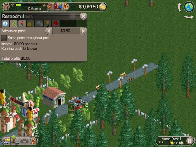 RollerCoaster Tycoon on iPad