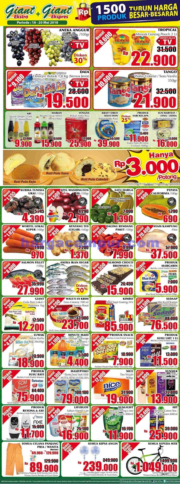 Promo JSM GIANT SUPERMARKET Weekend Terbaru 18 - 20 Mei 2018
