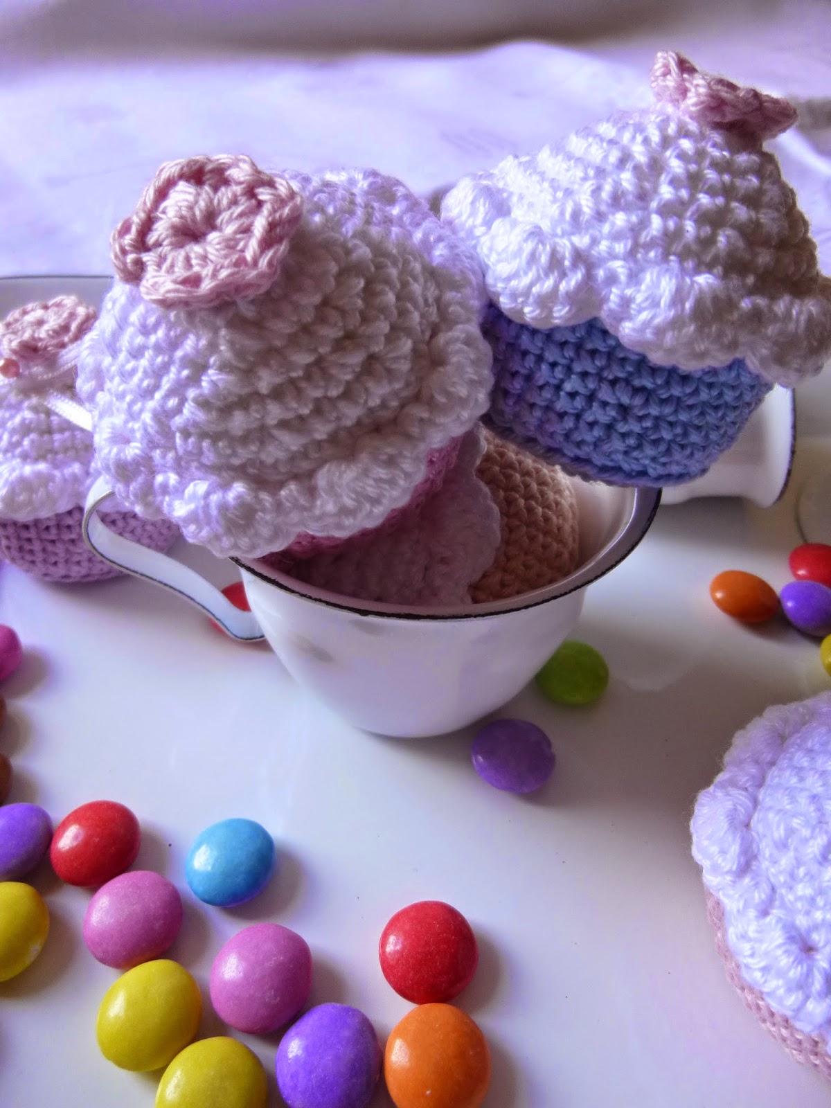 Häkeln Im Quadrat Mini Cupcakes