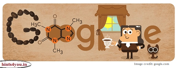 Google has created a Google Doodle on the 225th birthday of Friedlieb Ferdinand Runge, German chemist Ferdinand Runge. Famous Chemist Friedlieb Ferdinand Runge's 225th Birthday of German discovered caffeine.