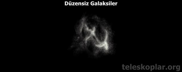 düzensiz galaksiler nedir?