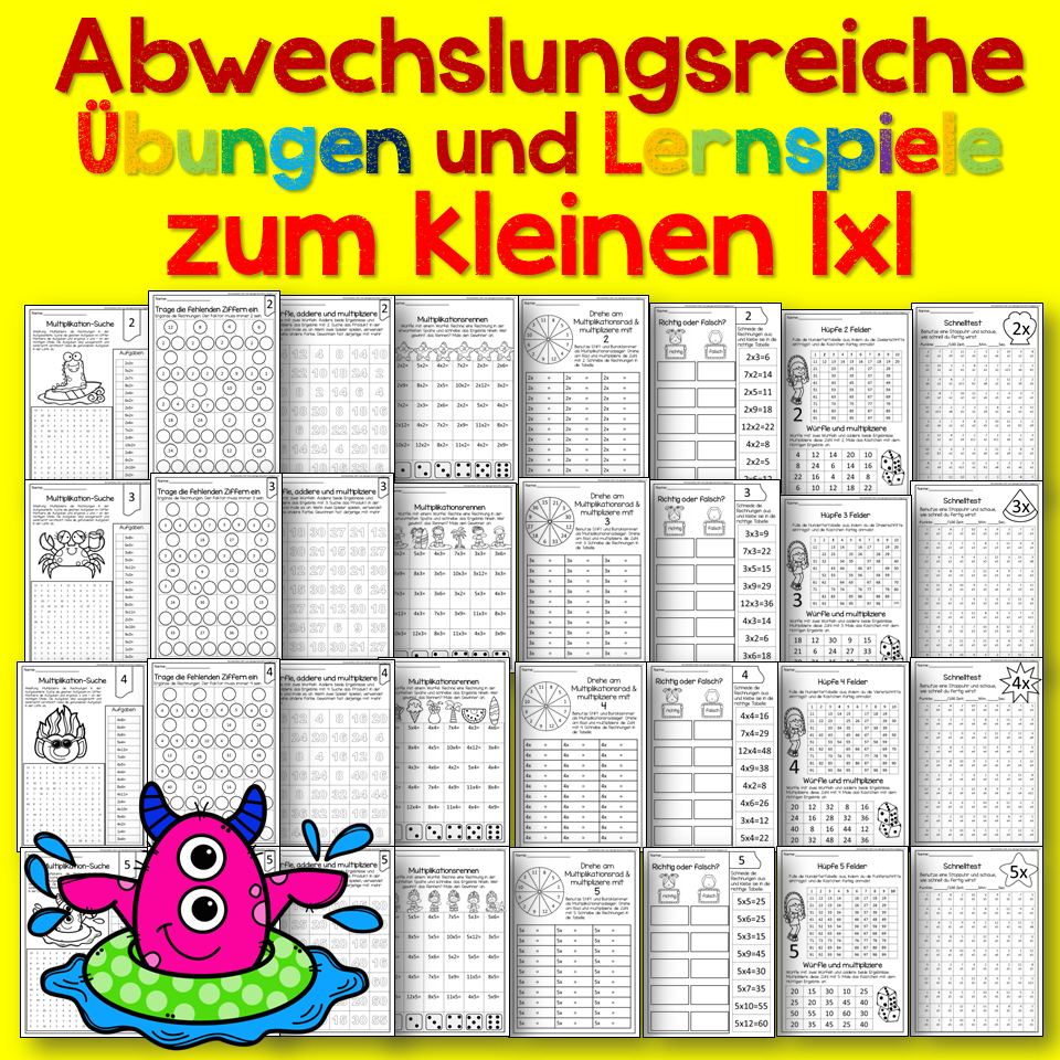 learn german with fun das kleine 1x1 lernen. Black Bedroom Furniture Sets. Home Design Ideas