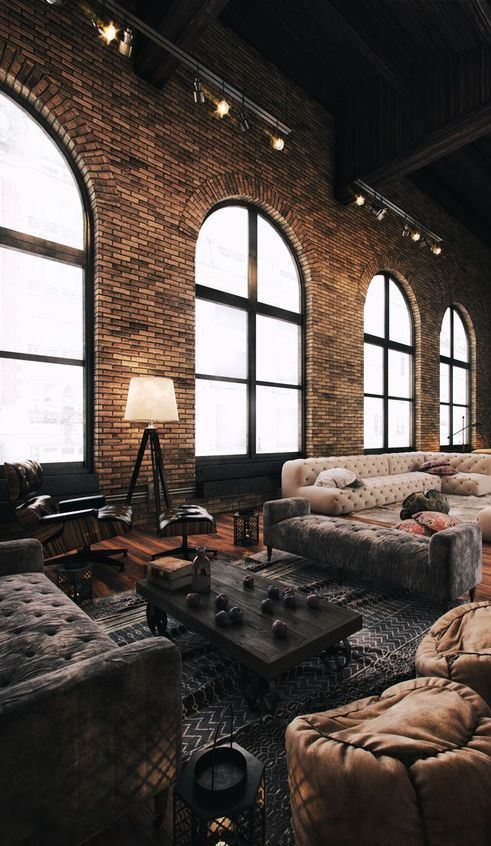 living room industrial design inspiration