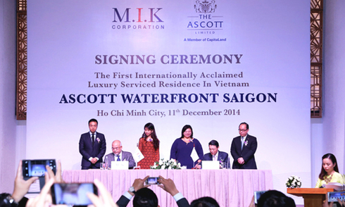 Lễ ký kết giữa M.I.K & The Ascott