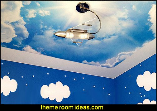 cloud murals cloud wall decal stickers cloud decorations
