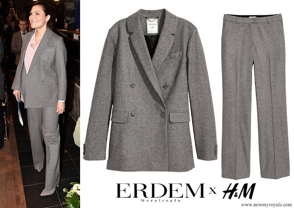 Crown Princess Victoria wore ERDEM X H&M Wool Suit