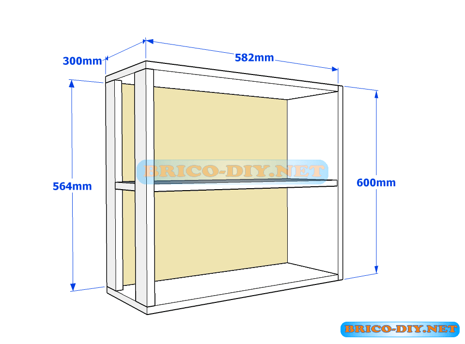 Muebles de cocina plano de alacena de melamina esquinera for Mueble esquinero de melamina