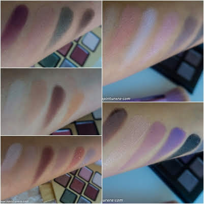swatches comparativa too faced vs. ps