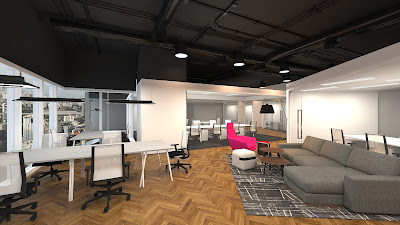 Artist's impression of the new coworking space at Capital Tower, Singapore.